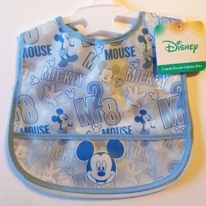 DISMISS MICKEY MOUSE BABY CRUMB BIBS (2)